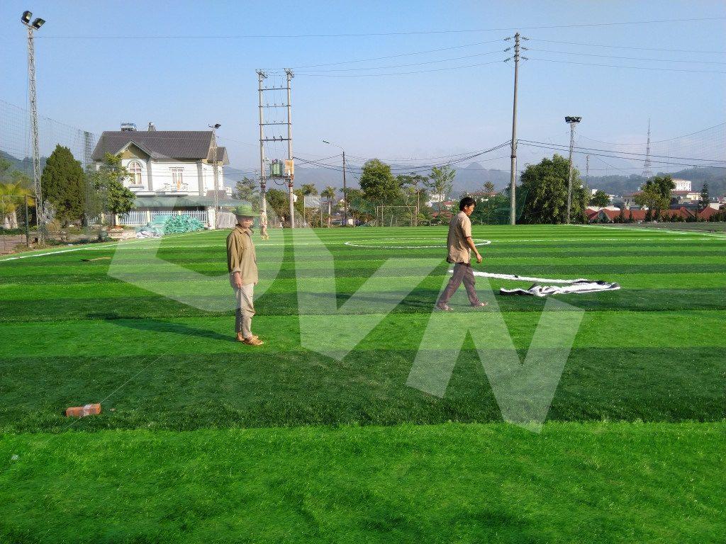 1, Một số hình ảnh của dự án sân bóng đátạiTp.Lai Châu 2