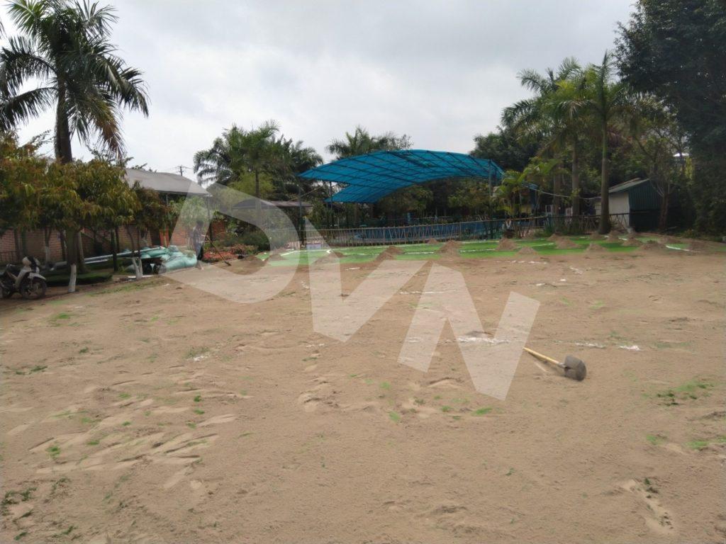 Một số hình ảnh của dự án sân bóng tại Trang trại giáo dục Erahouse, Long Biên, Hà Nội 9