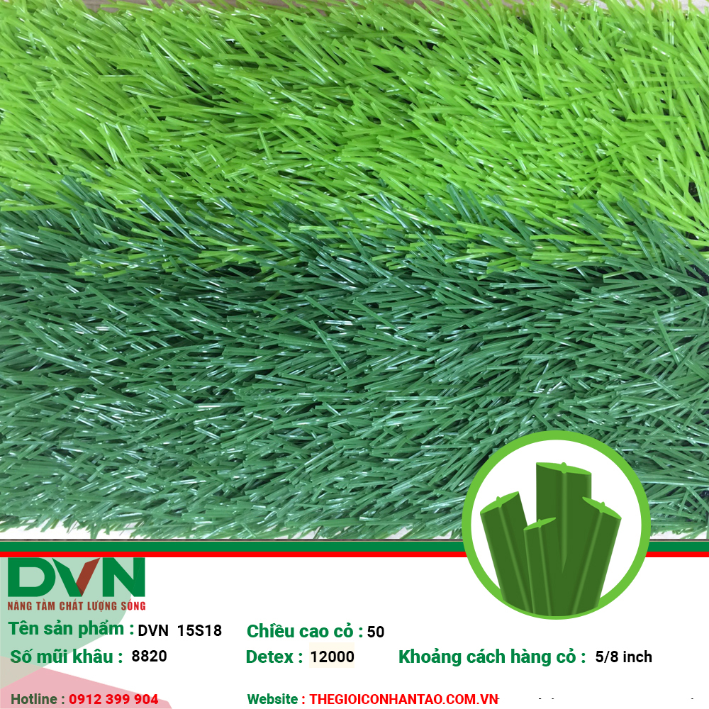 1, Hình ảnh sản phẩm cỏ nhân tạo sân bóng DVN 15S 1