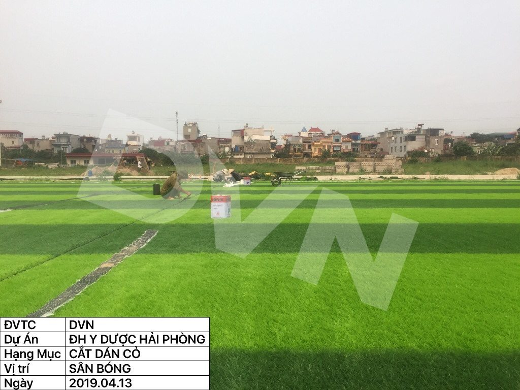 1, Một số hình ảnh của dự án sân bóng đá Trường Đại học Y dược Hải Phòng 10