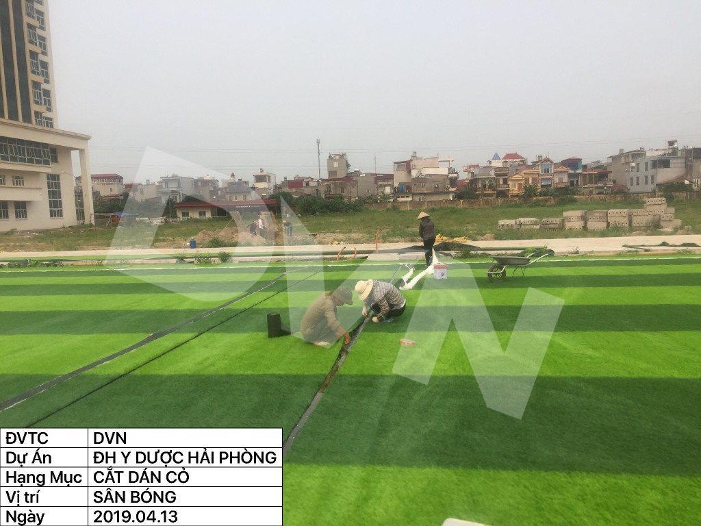 1, Một số hình ảnh của dự án sân bóng đá Trường Đại học Y dược Hải Phòng 9