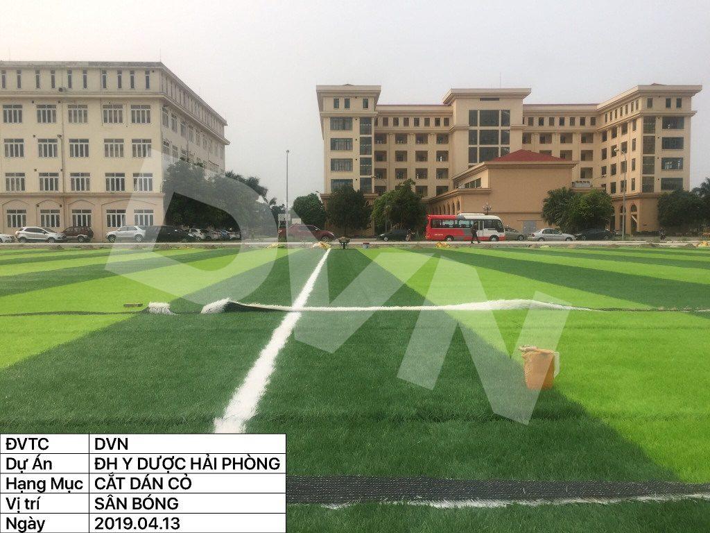 1, Một số hình ảnh của dự án sân bóng đá Trường Đại học Y dược Hải Phòng 8