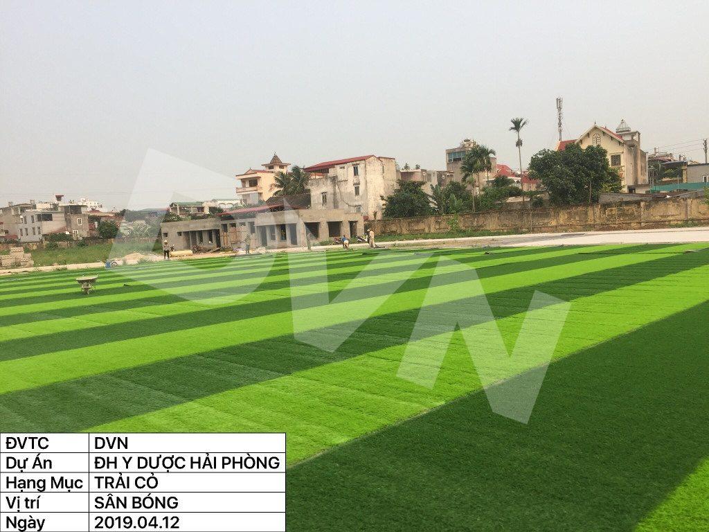 1, Một số hình ảnh của dự án sân bóng đá Trường Đại học Y dược Hải Phòng 7