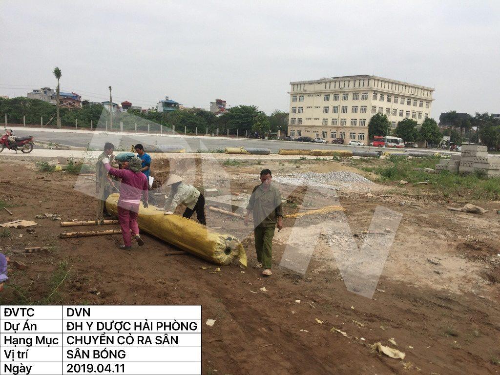1, Một số hình ảnh của dự án sân bóng đá Trường Đại học Y dược Hải Phòng 6