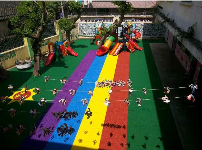 1, Mẫu thiết kế sân chơi mầm non đa màu sắc 1
