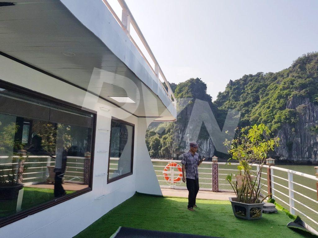 Hình ảnh dự án trải cỏ nhân tạo du thuyền