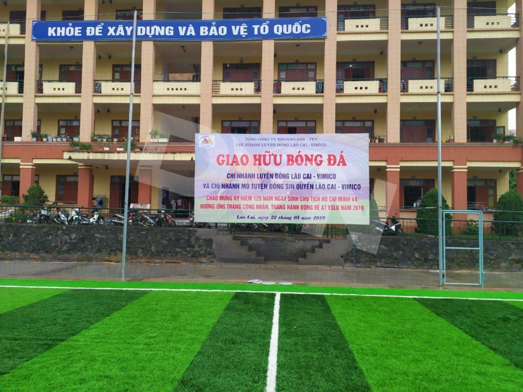 1, Một số hình ảnh của dự án sân bóng đáChi nhánh Luyện đồng Lào Cai 7