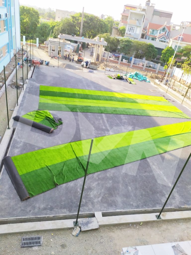 1, Một số hình ảnh của dự ánsân bóng Trường tiểu học Phú Diễn, Hà Nội 2