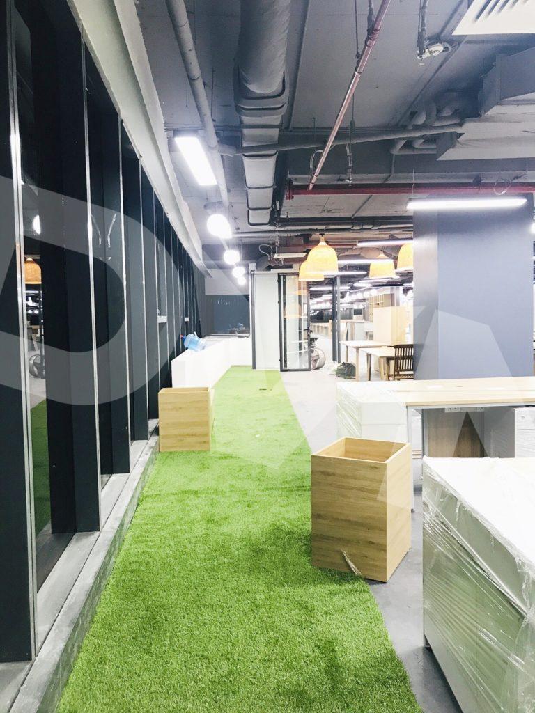 1, Một số hình ảnh của dự án Trải cỏ văn phòng tại Toà nhà TNR Tower 5