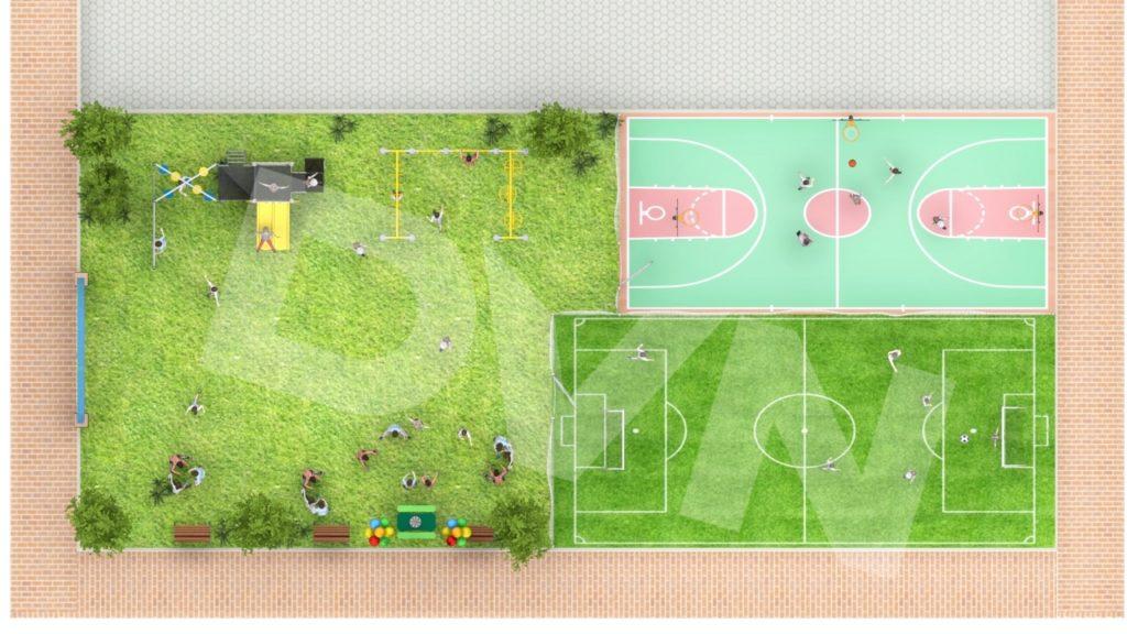 Thiết kế sân chơi trường mầm non Wekids