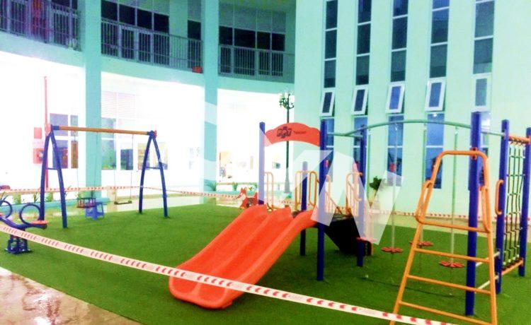 Một số sân chơi cho bé sử dụng cỏ nhân tạo Tiền Giang mà DVN đã thi công 1