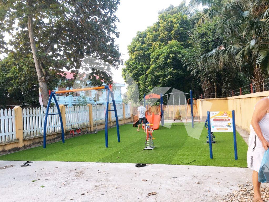 Hình ảnh sân chơi tại Nhà văn hóa Xã Hưng Đạo