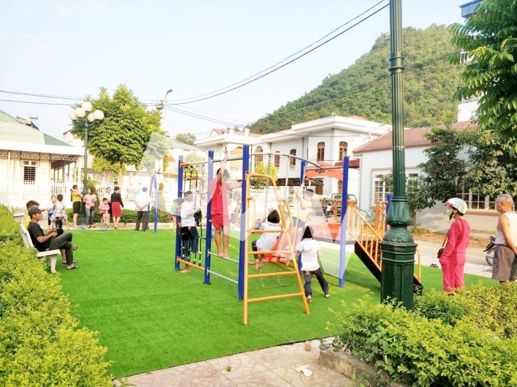 1, Một số hình ảnh sân chơi tại Nhà văn hóa phường Quyết Thắng 1