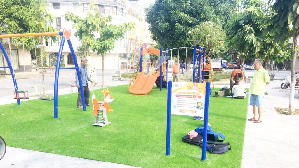 1, Một số hình ảnh sân chơi tại phường Kim Tân 2