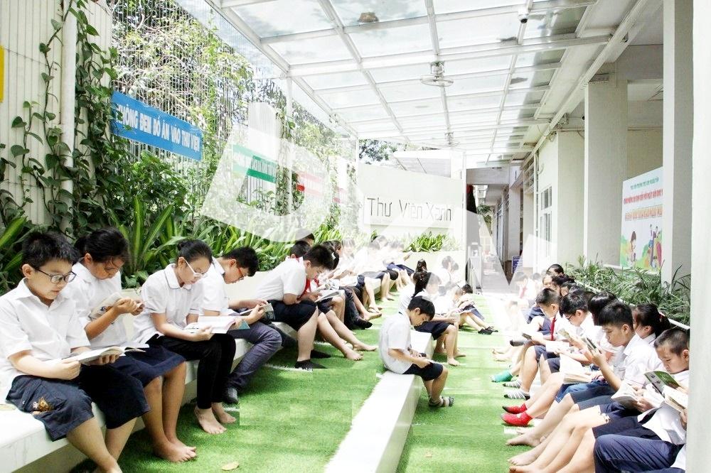 1, Một số hình ảnhtại Thư Viện Xanh - Trường Tiểu Học Nghĩa Tân 5