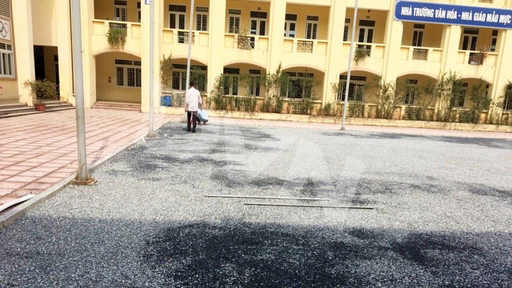 1, Một số hình ảnh sân bóng Trường tiểu học Tiền Phong 1