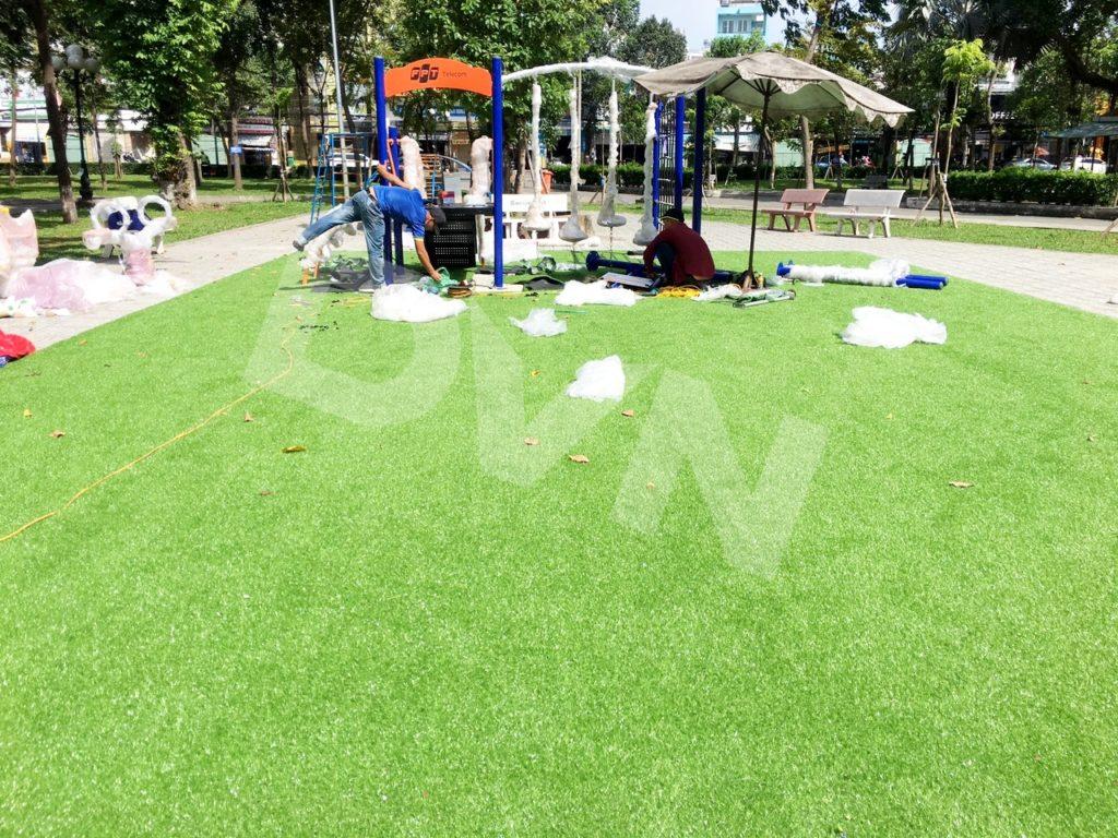 1, Một số hình ảnh sân chơi tạiCông viênLàng Hoa, quận Gò Vấp 1