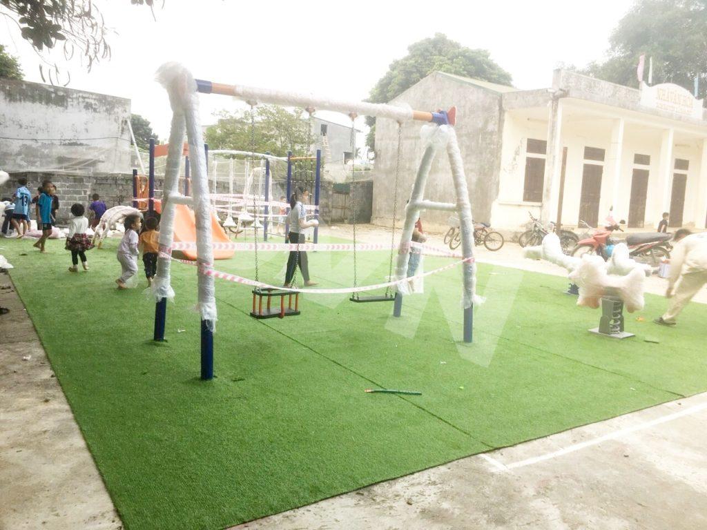 1, Một số hình ảnh sân chơi tại Nhà văn hoá xómBáiYên 2