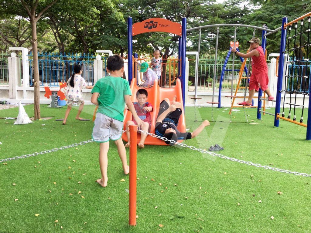 1, Một số hình ảnh sân chơi tại Trường tiểu học Đài Sơn 5