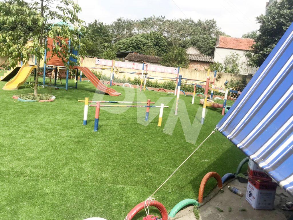 1, Một số hình ảnh sân chơi cỏ nhân tạo Trường mầm non Cẩm Tú 1