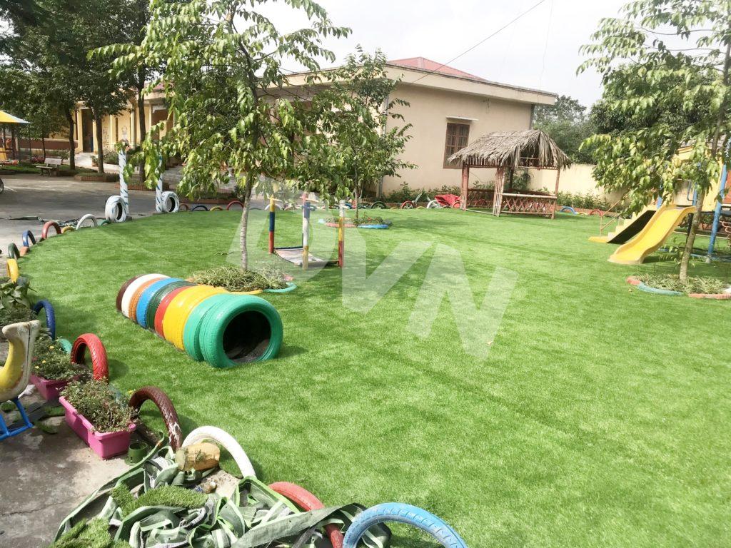 1, Một số hình ảnh sân chơi cỏ nhân tạo Trường mầm non Cẩm Tú 2