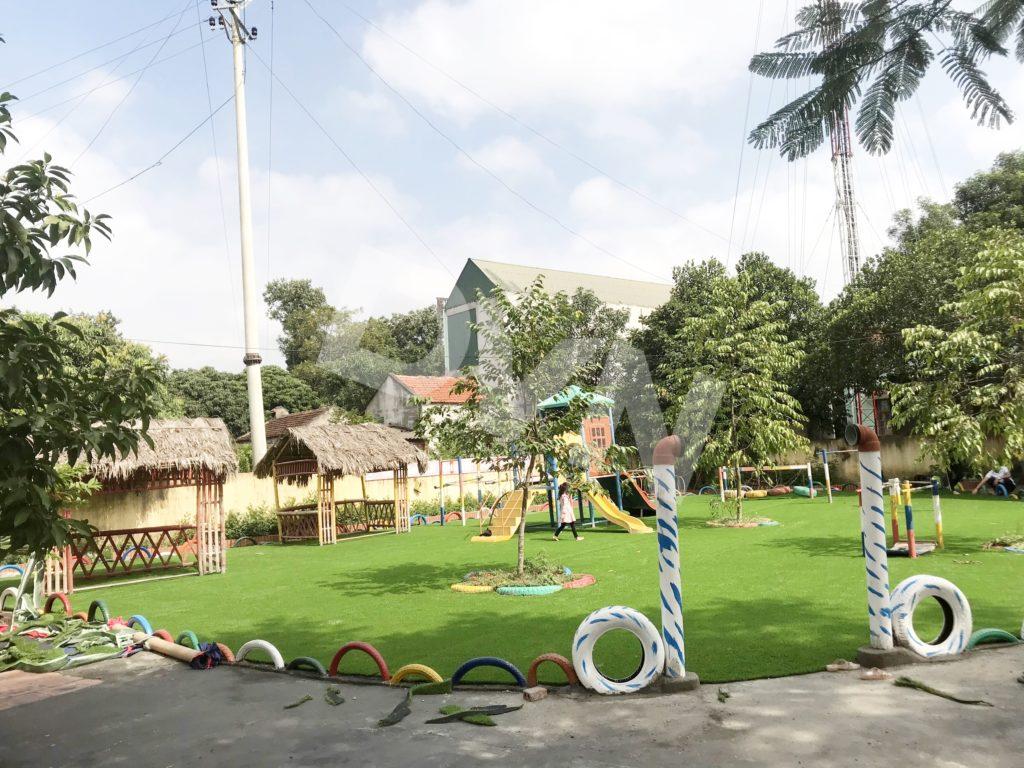 1, Một số hình ảnh sân chơi cỏ nhân tạo Trường mầm non Cẩm Tú 7