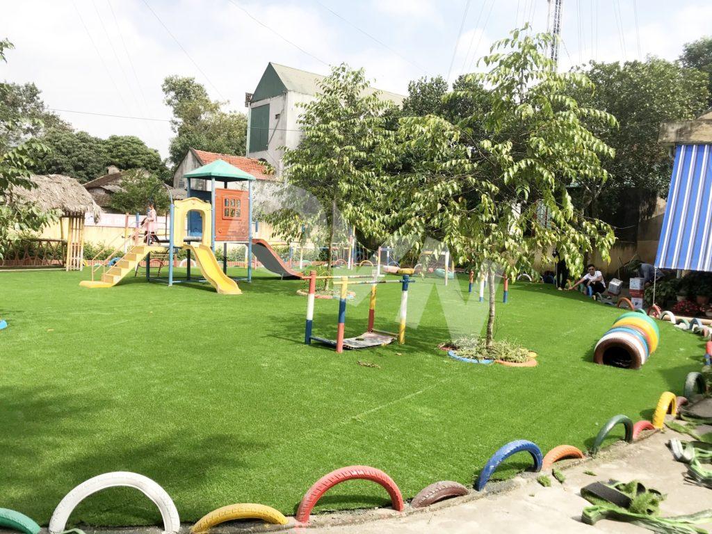 1, Một số hình ảnh sân chơi cỏ nhân tạo Trường mầm non Cẩm Tú 5
