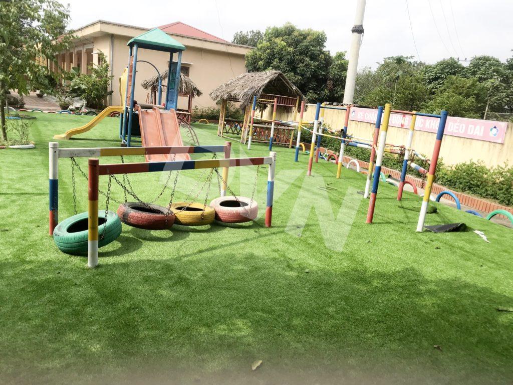 1, Một số hình ảnh sân chơi cỏ nhân tạo Trường mầm non Cẩm Tú 6