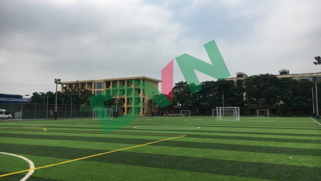 1,Một số hình ảnh sân bóng cỏ nhân tạo Trường Cao Đẳng Đường Sắt 6