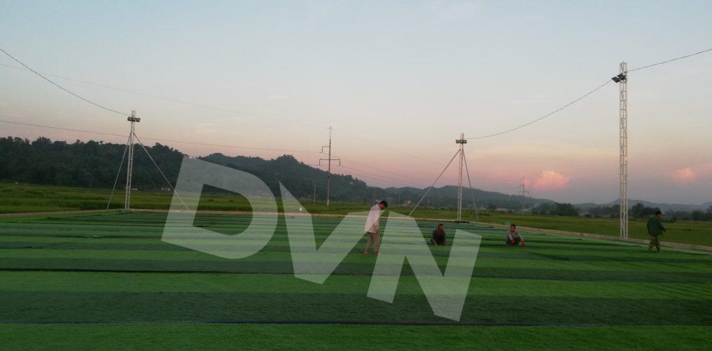 1,Một số hình ảnh thi công sân bóng cỏ nhân tạo Tràng Định, Lạng Sơn 3