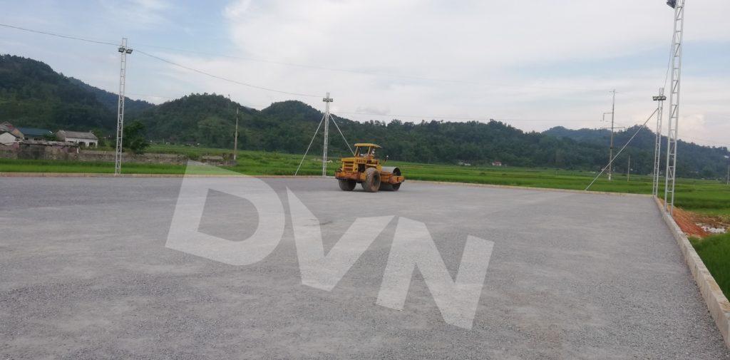 1,Một số hình ảnh thi công sân bóng cỏ nhân tạo Tràng Định, Lạng Sơn 2