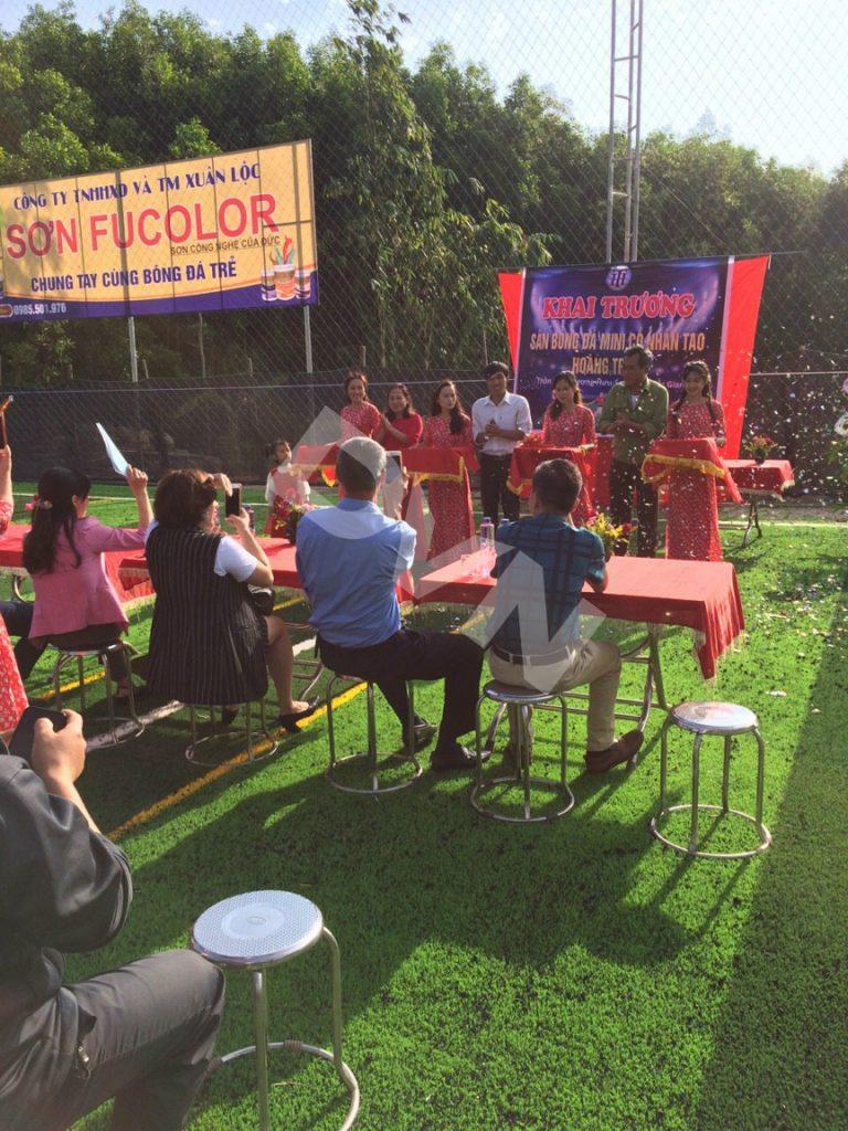 1, Một số hình ảnh dự án sân bóng tại Sơn Đông - Bắc Giang 3