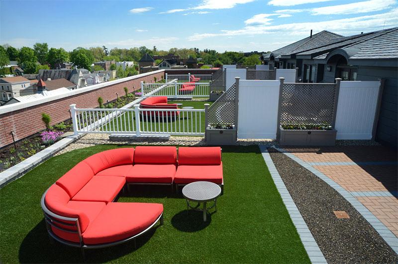 Thiết kế Thảm cỏ nhân tạo sân vườn đẹp