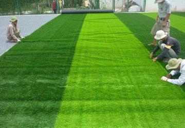 thi công sân bóng đá cỏ nhân tạo Quảng Trị