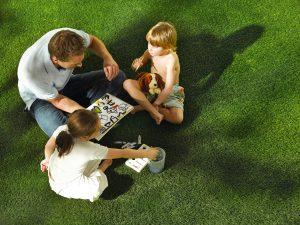 Ứng dụng cỏ nhân tạo sân vườn trong trang trí studio 3