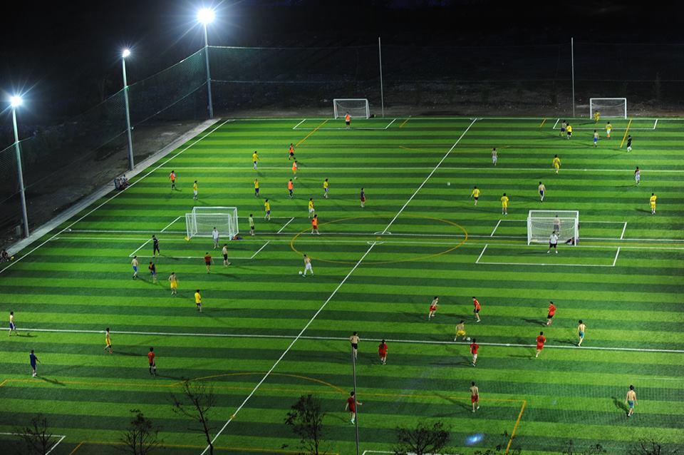 Dịch vụ thi công sân bóng đá cỏ nhân tạo Quảng Trị uy tín - DVN Việt Nam 1