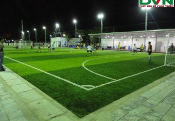Thi công sân banh cỏ nhân tạo Phú Yên