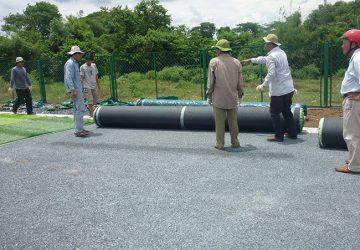 Thi công sân banh cỏ nhân tạo Quảng Trị