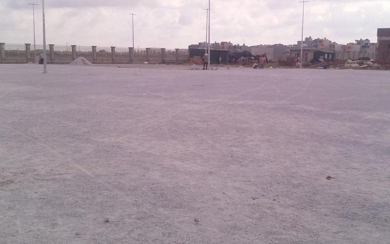 xử lý mặt bằng thi công sân bóng cỏ nhân tạo