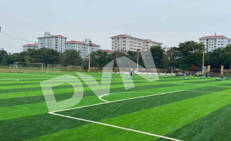 DVN Việt Nam đã thi công nhiều công trình cỏ nhân tạo sợi kim cương ở Hà Nam
