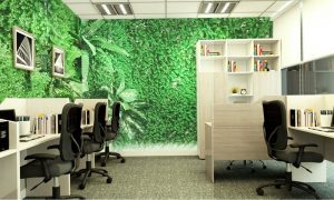 Các ý tưởng trang trí cỏ nhân tạo trong văn phòng 3