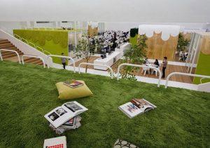 Các ý tưởng trang trí cỏ nhân tạo trong văn phòng 4