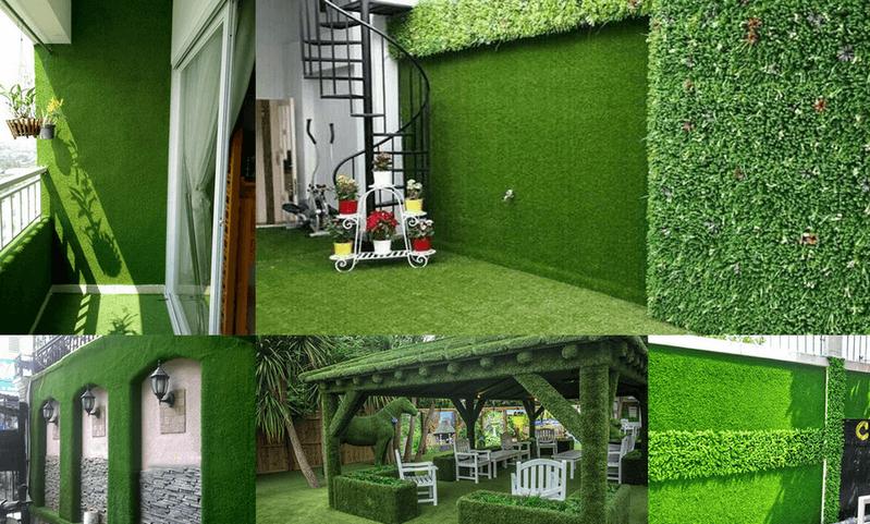 Thảm cỏ nhựa treo tường