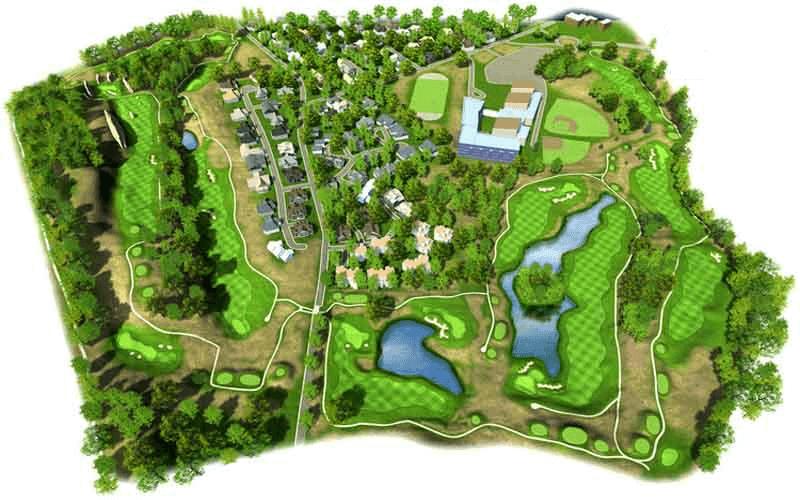 Bản vẽ thiết kế sân Golf 9 lỗ