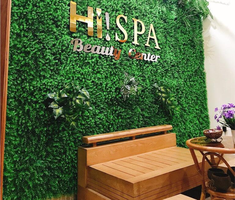Thảm cỏ nhân tạo trang trí Spa